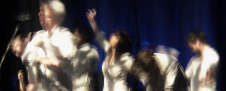Blurred dancers